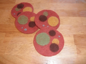 Needle Felted Coasters