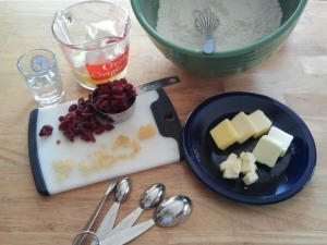 Cranberry Ginger Scone Ingredients