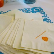 Cocktail Napkins: Happy Thanksgiving