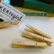 Clothespin Chip Clips / Cord Keepers