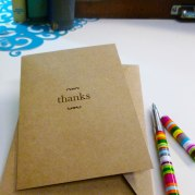Simply Sated Greeting Card: Thank You