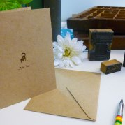 Simply Sated Greeting Card: Thinking of You