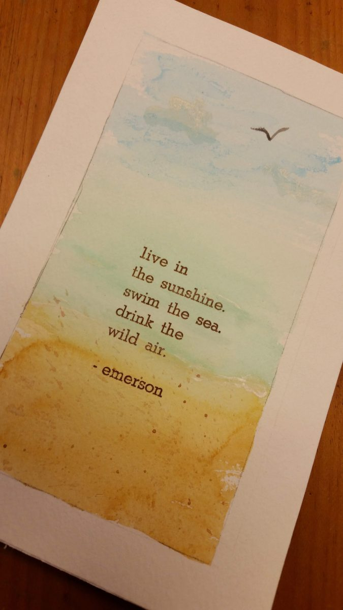 Watercolor & hand-set letterpress print