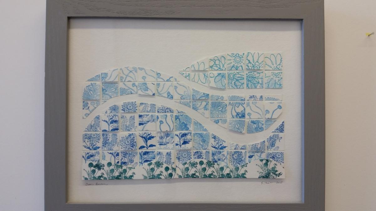 Ocean Garden - Letterpress Collage